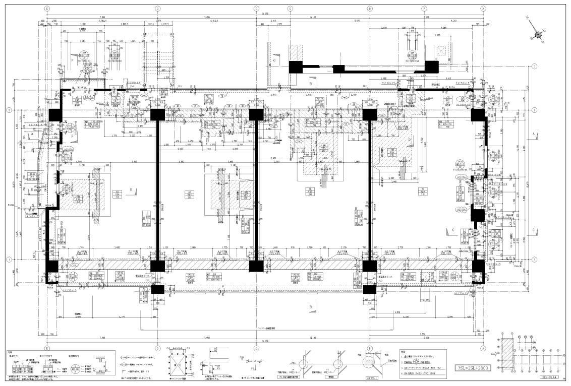 コンクリート躯体図